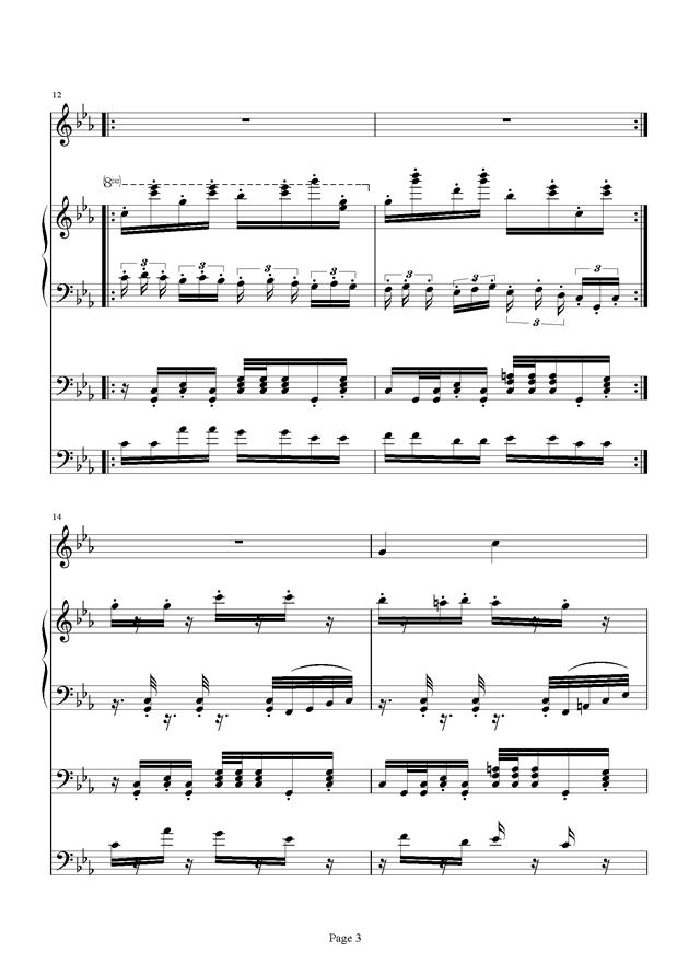 红脸猴贺曲钢琴谱 第3页