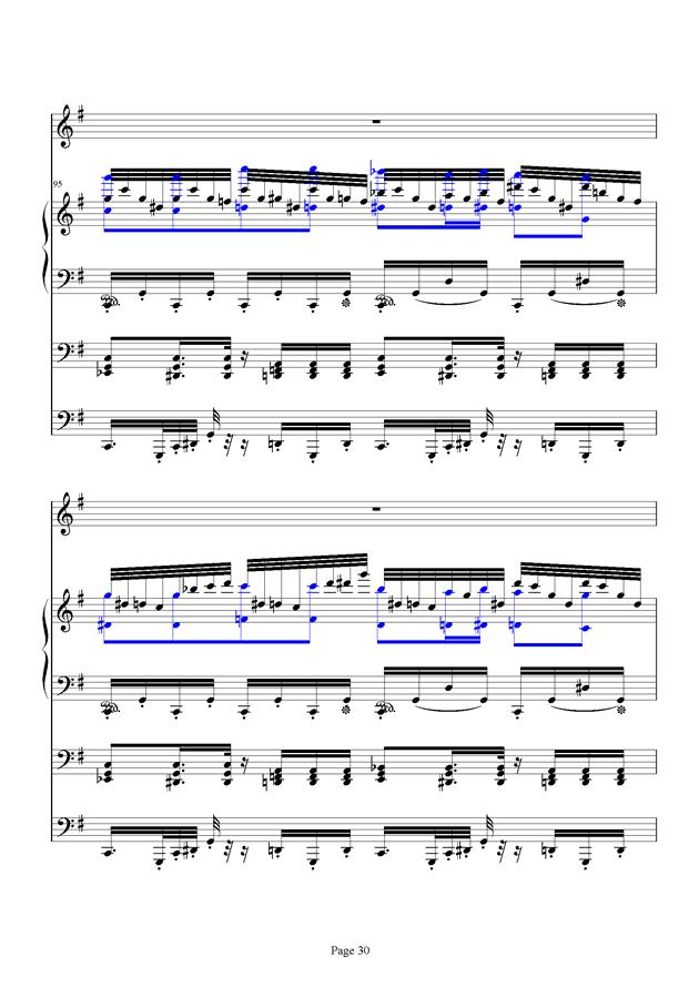 红脸猴贺曲钢琴谱 第30页