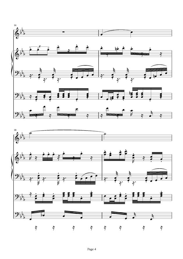 红脸猴贺曲钢琴谱 第4页