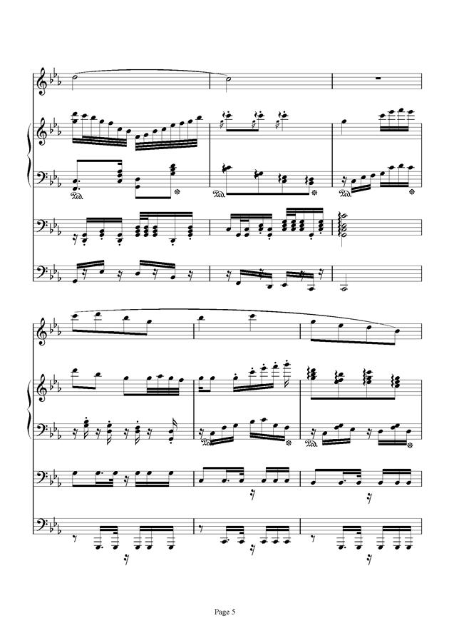 红脸猴贺曲钢琴谱 第5页