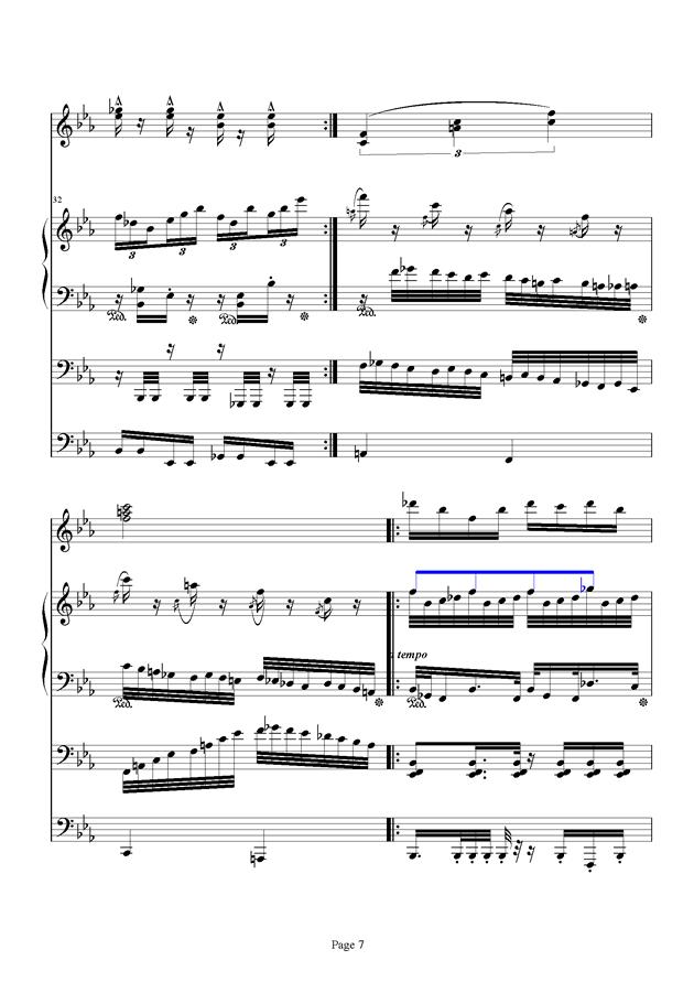红脸猴贺曲钢琴谱 第7页