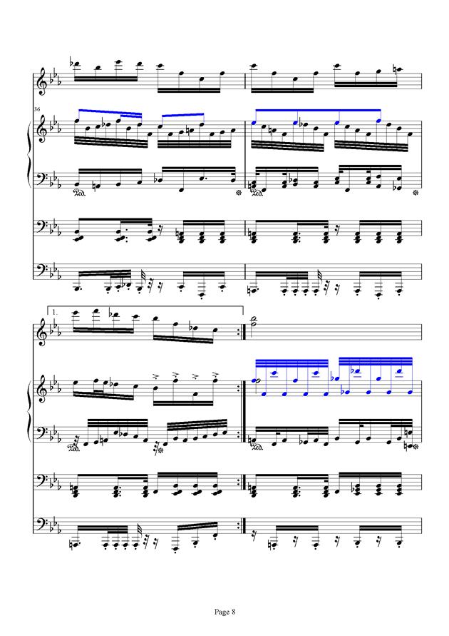 红脸猴贺曲钢琴谱 第8页