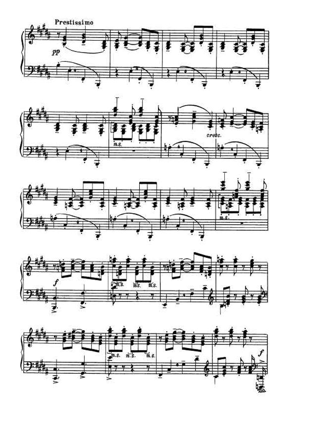 斯克里亚宾第5奏鸣曲钢琴谱 第10页