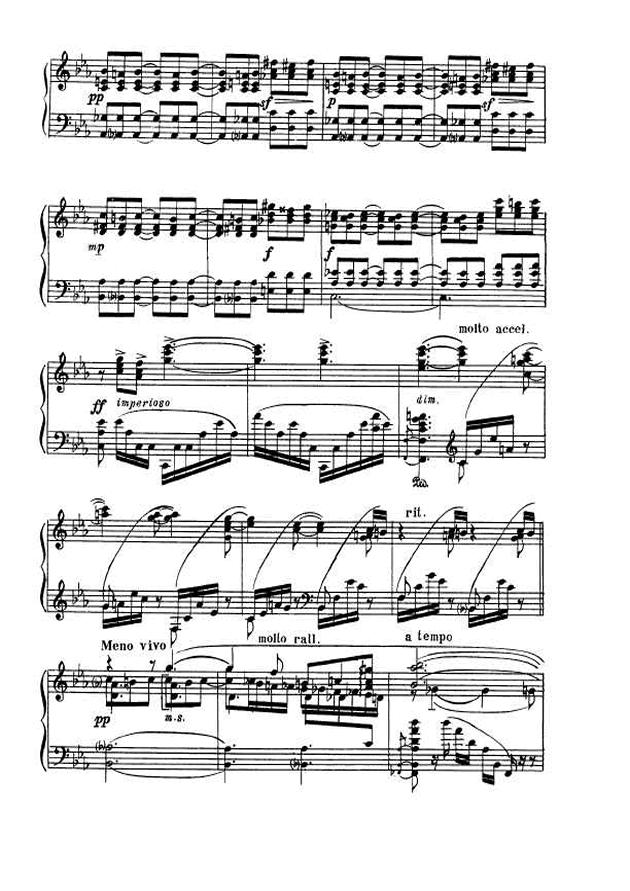 斯克里亚宾第5奏鸣曲钢琴谱 第12页