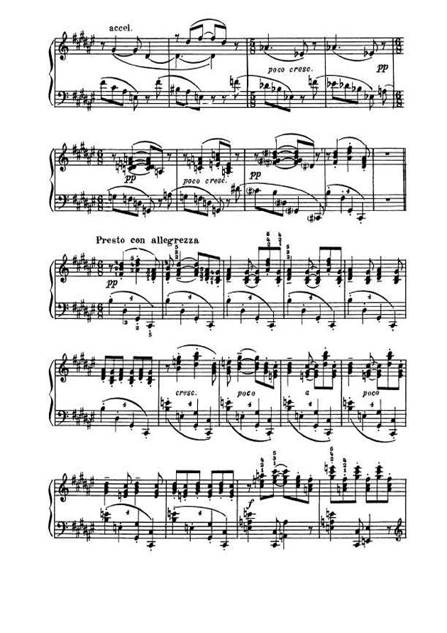 斯克里亚宾第5奏鸣曲钢琴谱 第13页