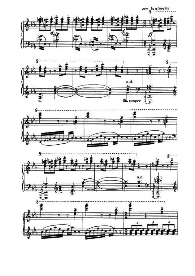 斯克里亚宾第5奏鸣曲钢琴谱 第16页
