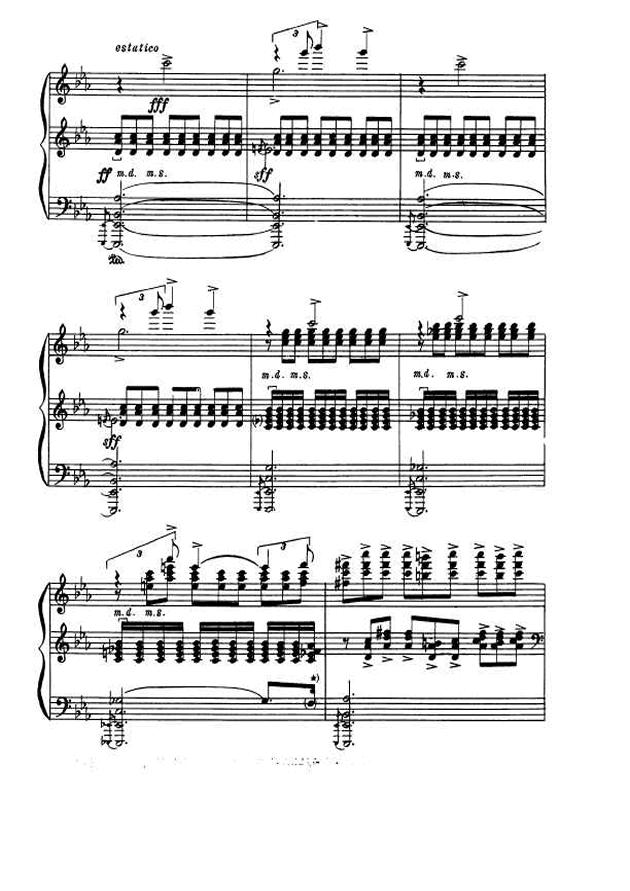 斯克里亚宾第5奏鸣曲钢琴谱 第17页