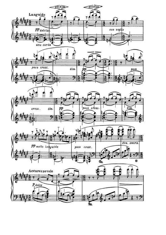 斯克里亚宾第5奏鸣曲钢琴谱 第2页