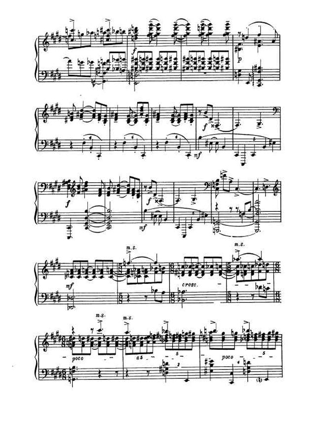 斯克里亚宾第5奏鸣曲钢琴谱 第3页
