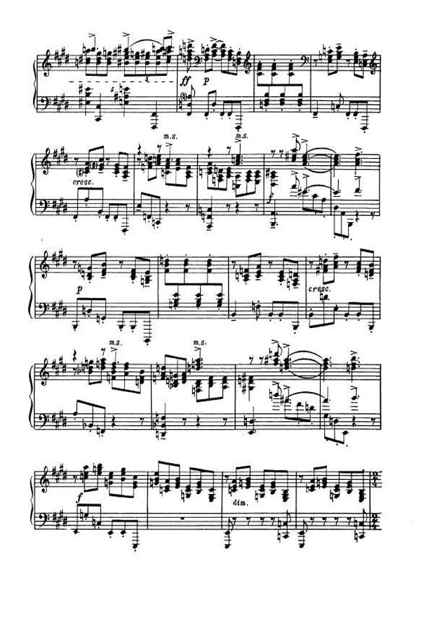 斯克里亚宾第5奏鸣曲钢琴谱 第4页