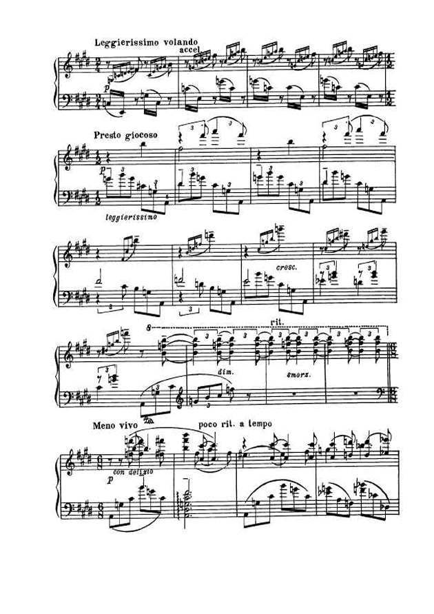 斯克里亚宾第5奏鸣曲钢琴谱 第5页