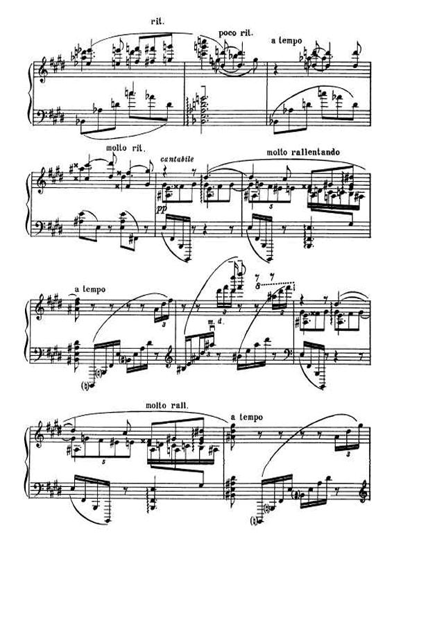 斯克里亚宾第5奏鸣曲钢琴谱 第6页