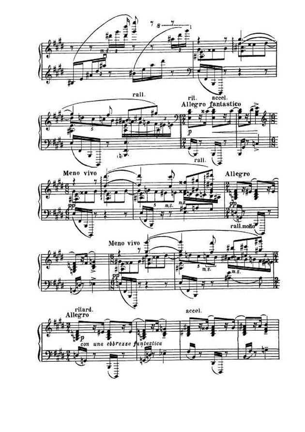 斯克里亚宾第5奏鸣曲钢琴谱 第7页