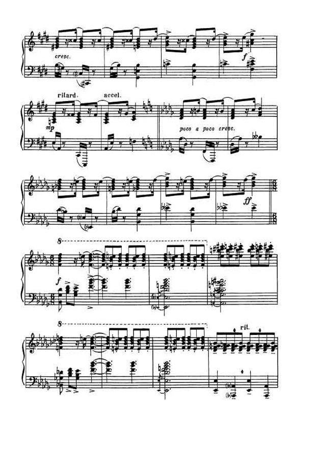 斯克里亚宾第5奏鸣曲钢琴谱 第8页