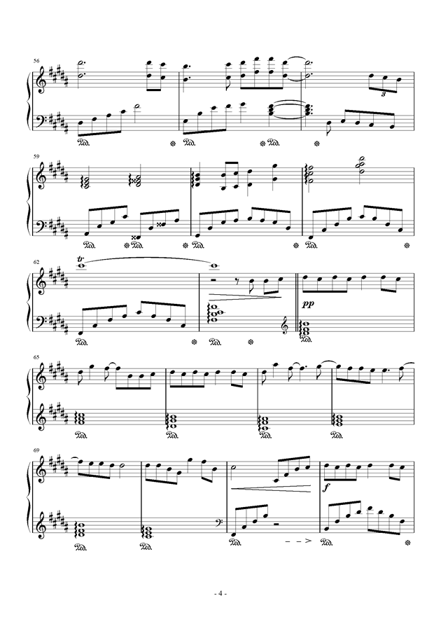 蜀绣钢琴谱 第4页