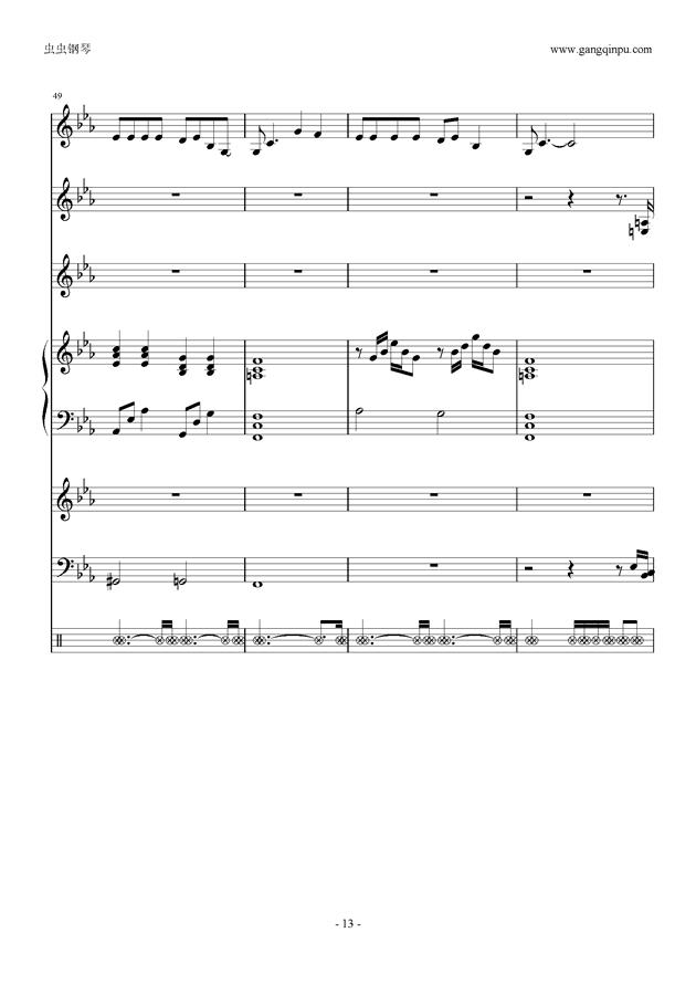 唯一 乐队总谱 ,唯一 乐队总谱 钢琴谱,唯一 乐队总谱 钢琴谱网,唯