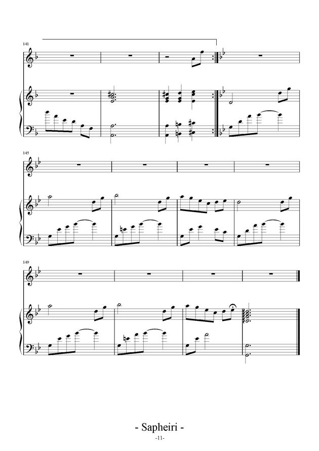 Nocturne钢琴谱 第11页