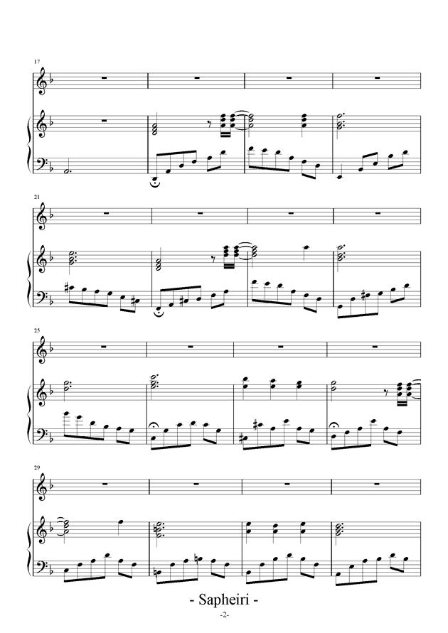 Nocturne钢琴谱 第2页