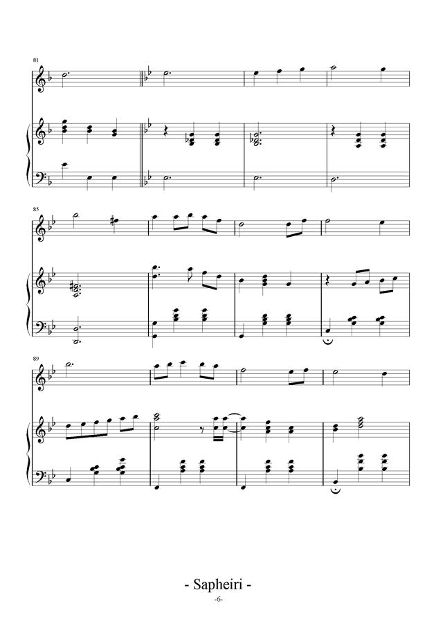 Nocturne钢琴谱 第6页