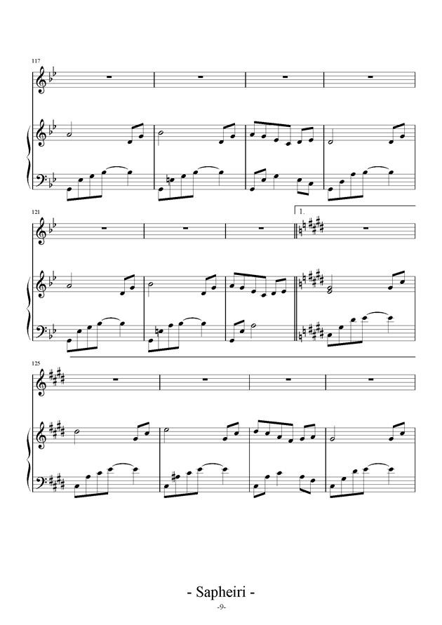 Nocturne钢琴谱 第9页