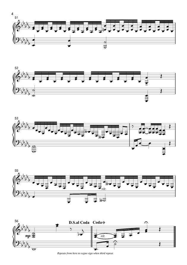 If You钢琴谱 第4页