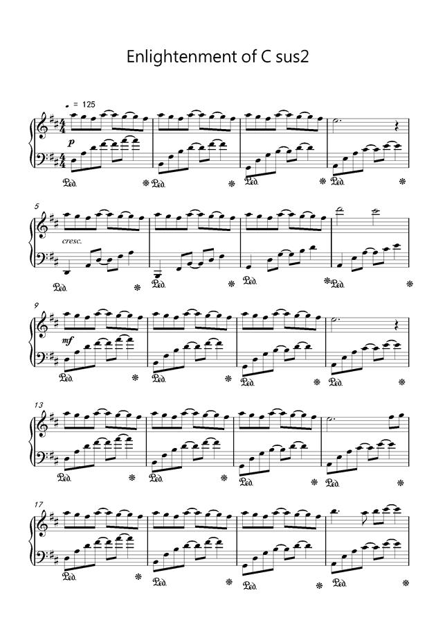 Csus2的启示钢琴谱 第1页