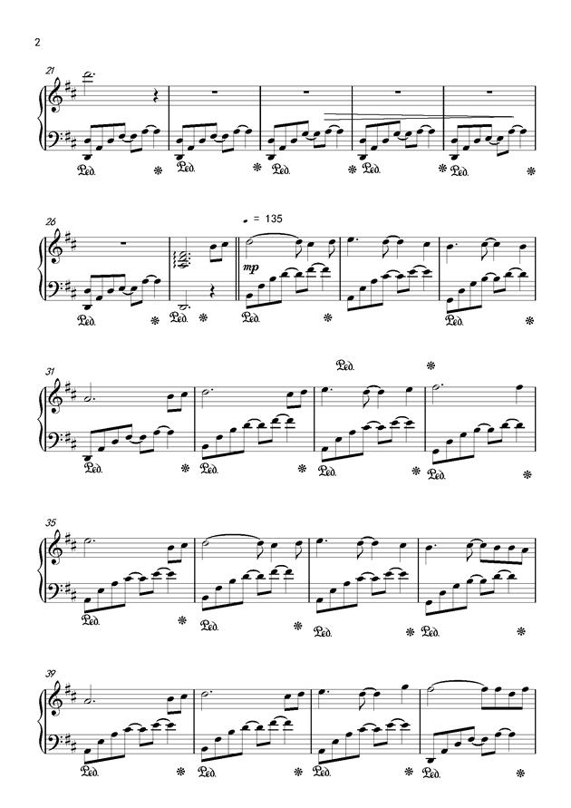 Csus2的启示钢琴谱 第2页
