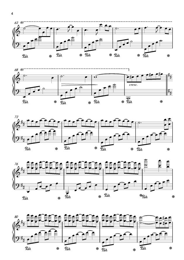 Csus2的启示钢琴谱 第4页
