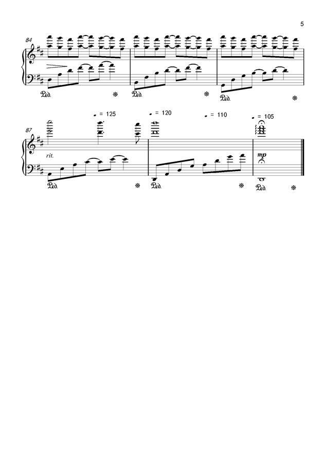 Csus2的启示钢琴谱 第5页