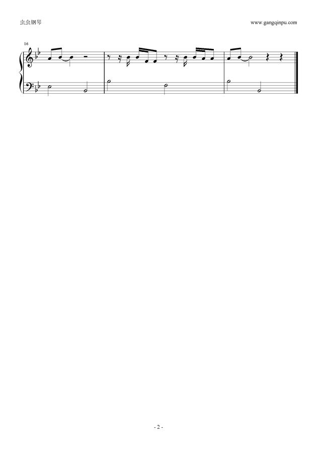 always钢琴谱 第2页