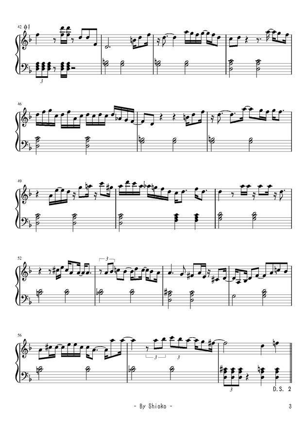 �Lい短く祭钢琴谱 第3页