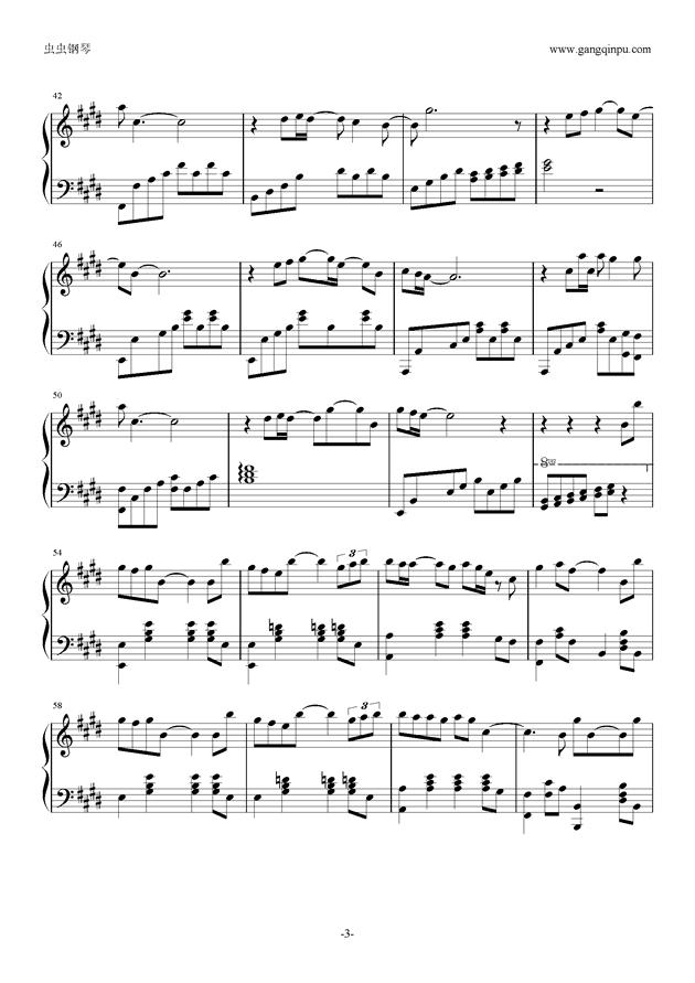 突然想爱你钢琴谱 第3页