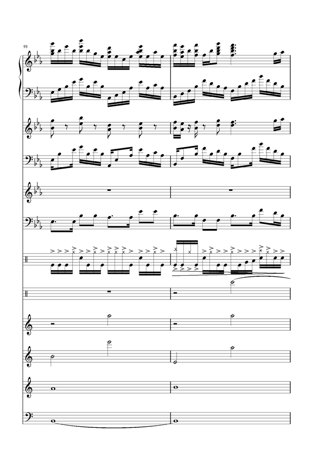 盛秋-落叶的旅行钢琴谱 第43页
