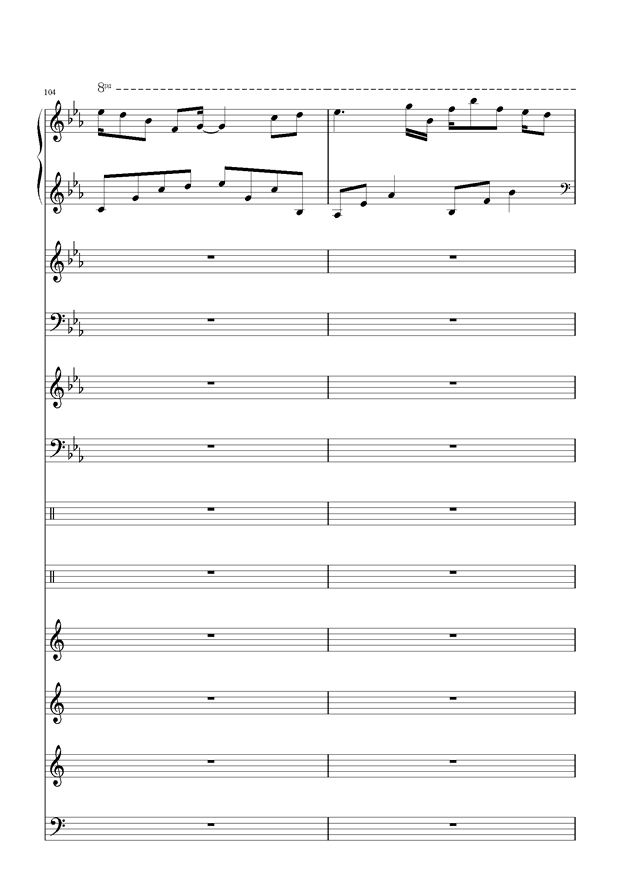盛秋-落叶的旅行钢琴谱 第48页