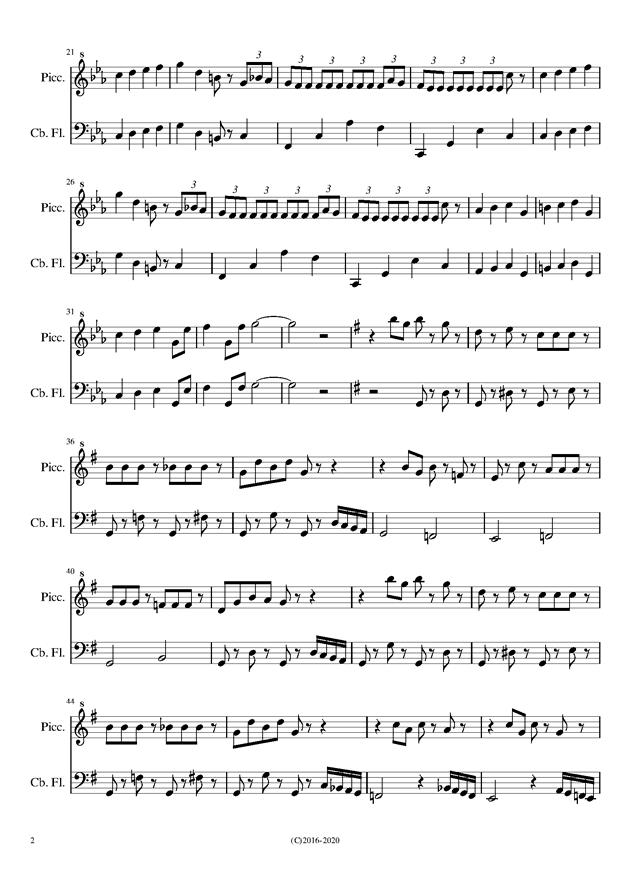 双重奏曲谱_古筝双重奏曲谱