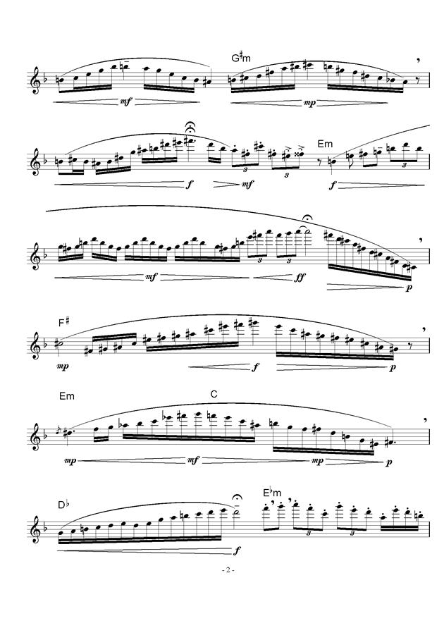 来自山野的风钢琴谱 第2页