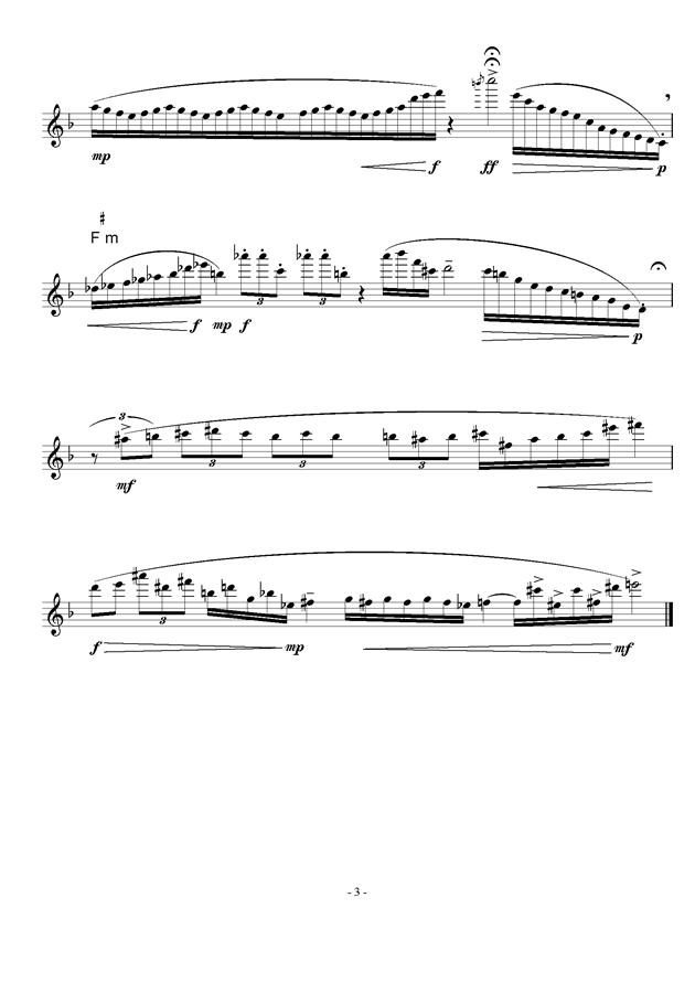 来自山野的风钢琴谱 第3页