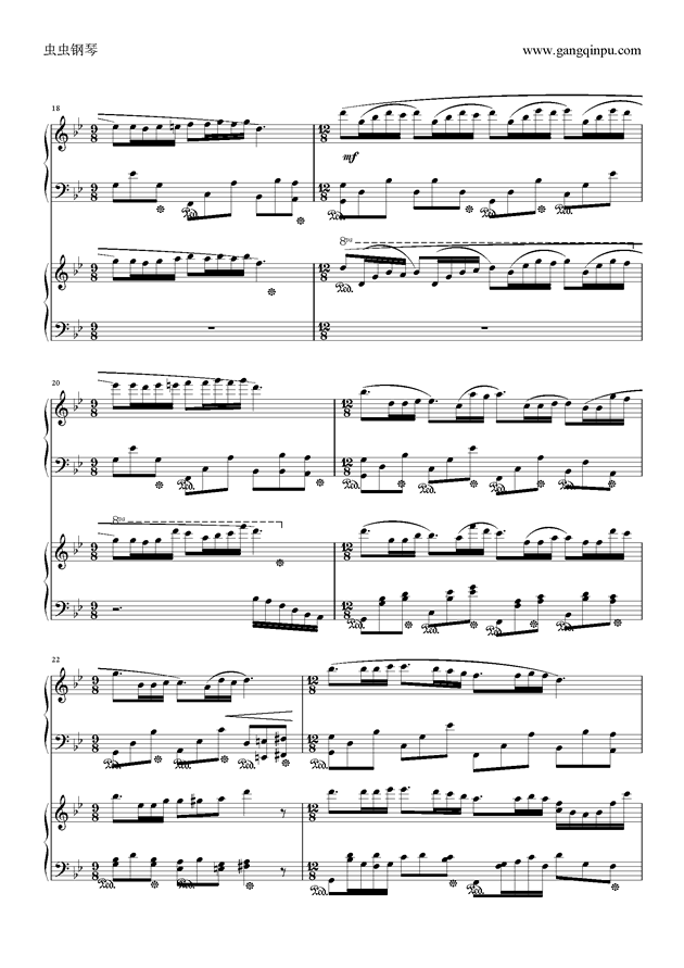 梦中的婚礼 双钢琴版 ,梦中的婚礼 双钢琴版 钢琴谱,梦中的婚礼 双钢