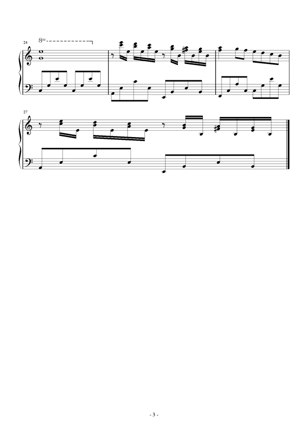童年的回忆钢琴谱 第3页