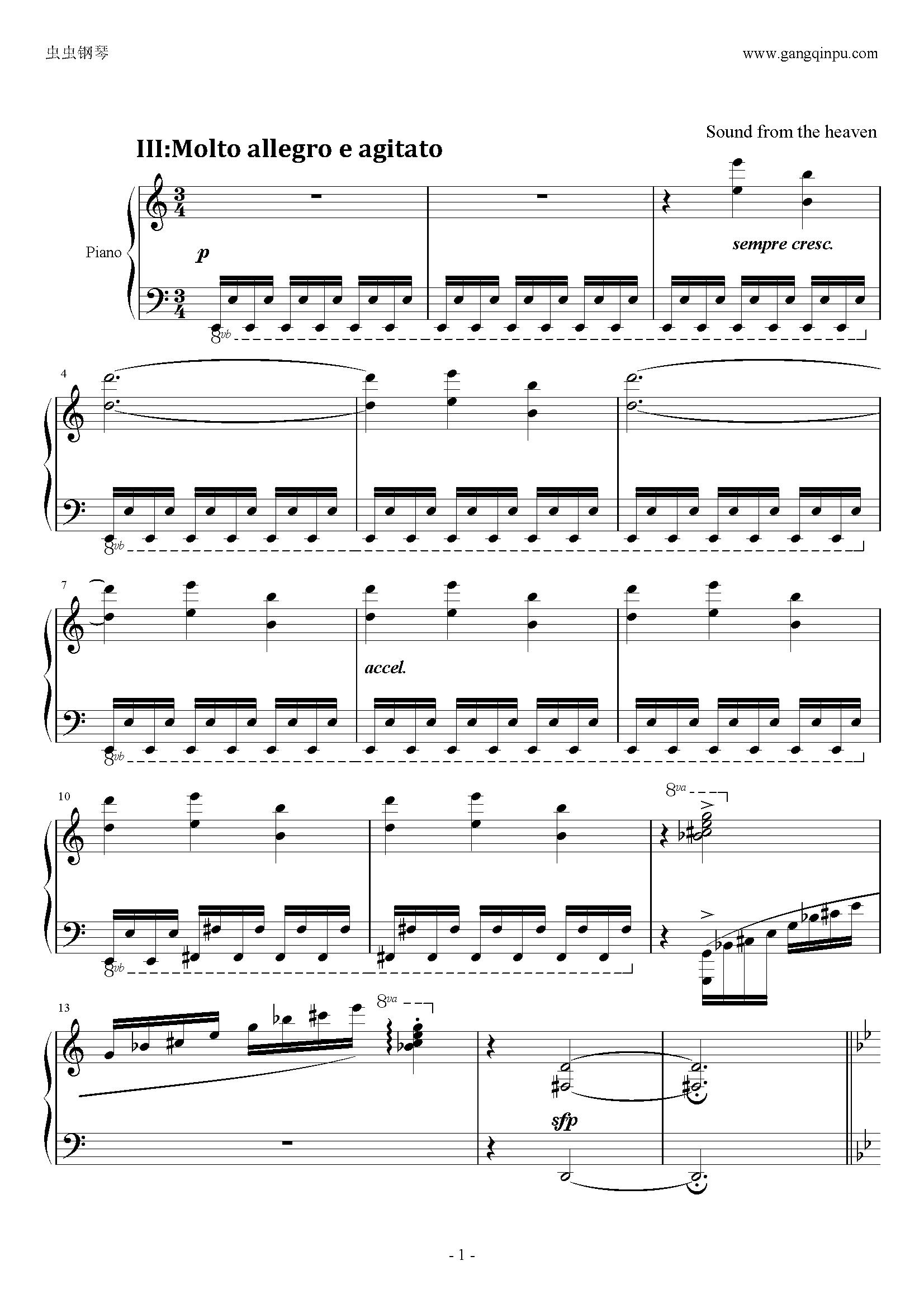 C大调小奏鸣曲钢琴谱 第1页