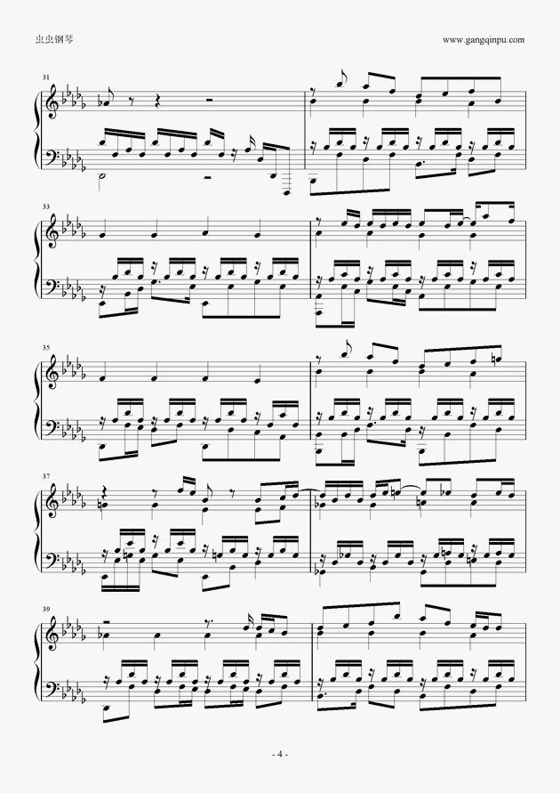 you if 钢琴谱