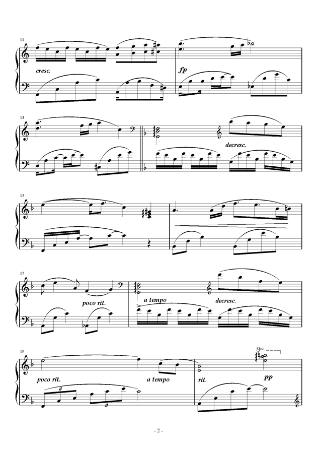 星空钢琴谱 第2页