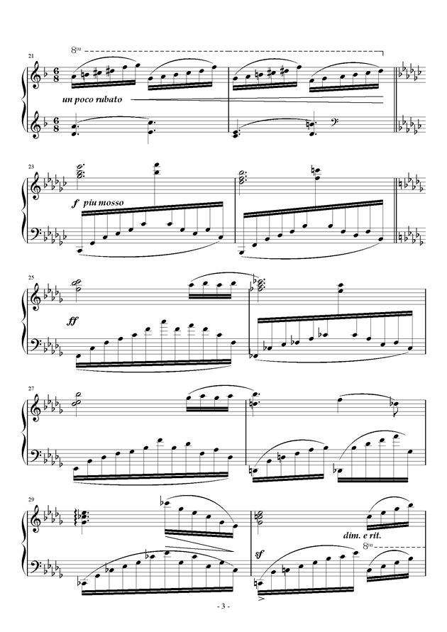星空钢琴谱 第3页