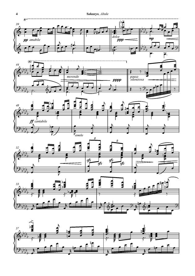 Altale钢琴谱 第4页