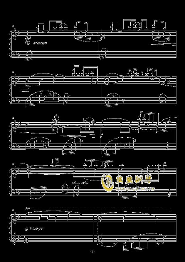 晨曦钢琴谱 第3页