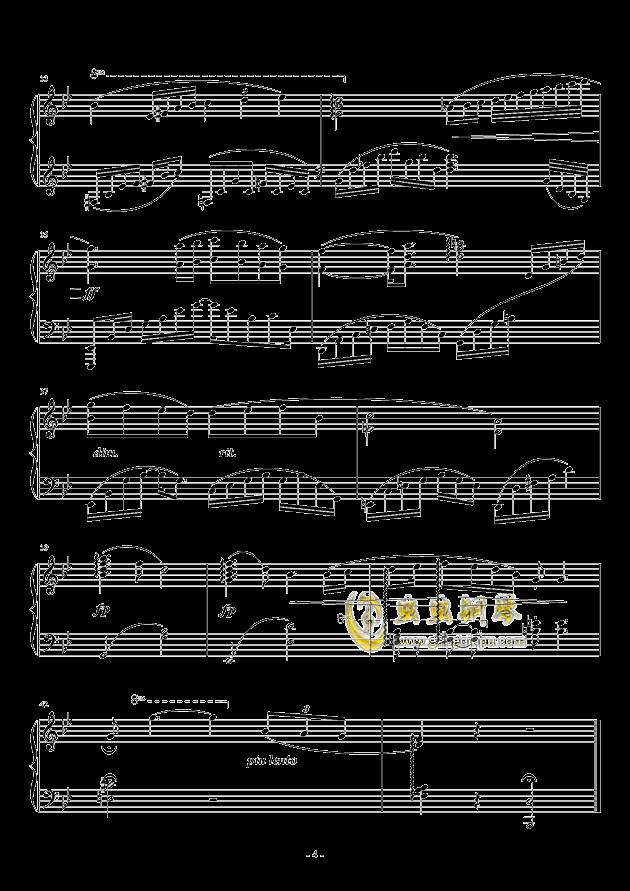 晨曦钢琴谱 第4页