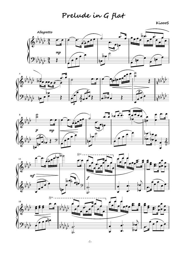 5.8分之曲钢琴谱 第1页