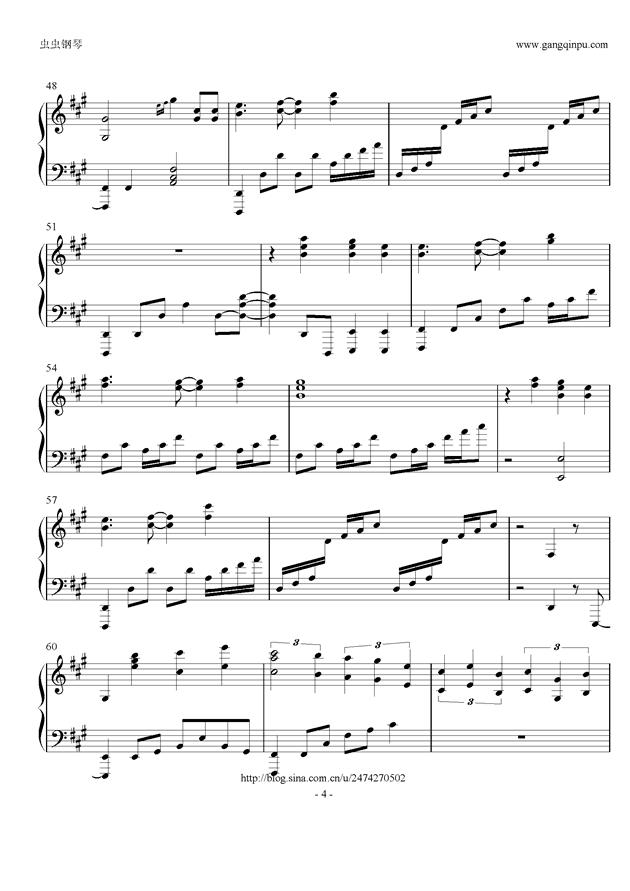 星条旗のピエロ钢琴谱 第4页