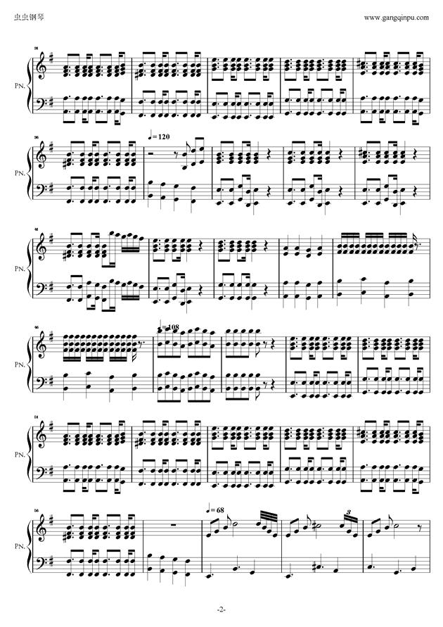 ��士超你昨天晚上到底把我家�匙放在哪了?钢琴谱 第2页
