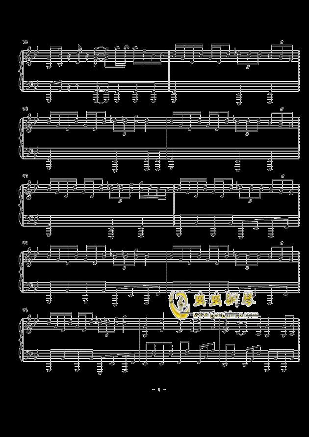 天空のグリニッジ钢琴谱 第4页